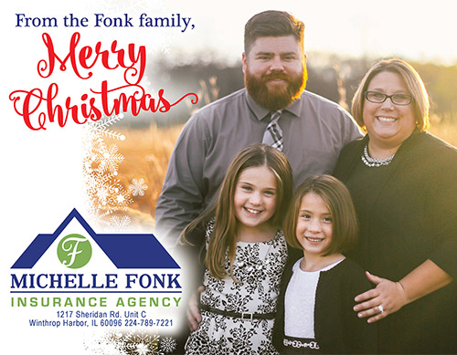 Merry Christmas from Michelle Fonk Insurance Agency!.